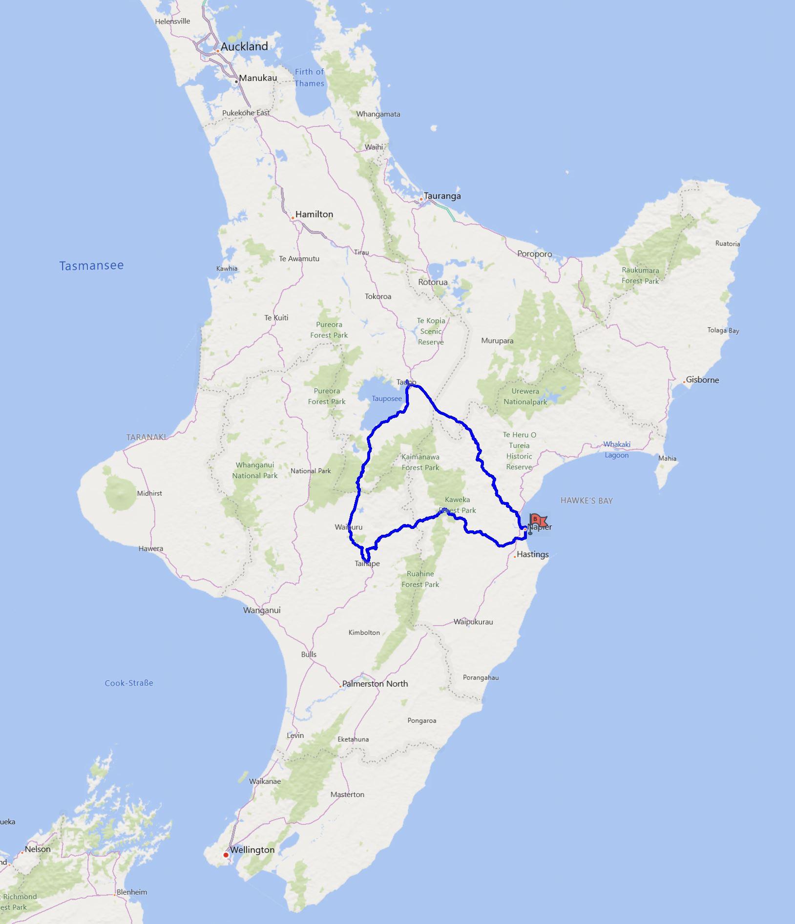 Napier-Taihape-Taupo-Napier